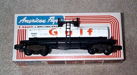 1979 American Flyer Gulf Tank Car (4-9100). Mint Condition.