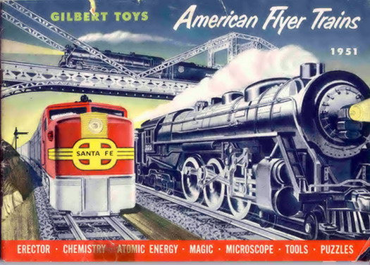 1951 Gilbert American Flyer Consumer Catalog (D1640) Good Condition, With Price LIst