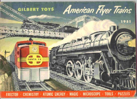 1951 Gilbert American Flyer Consumer Catalog (D1640) Excellent Minus Condition