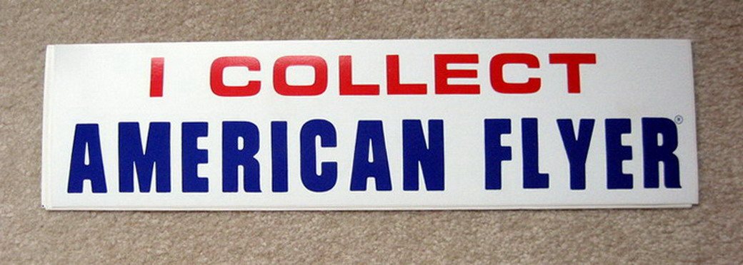 I COLLECT AMERICAN FLYER Bumper Sticker. Mint Condition.