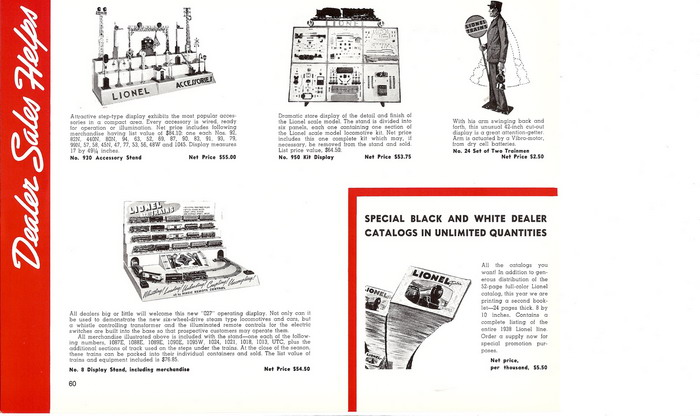 1938 Lionel Complete Retail Price List Reprint.