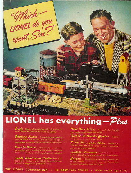 1946 Lionel Consumer Fundimensions Catalog (Reprint) Very Good Condition