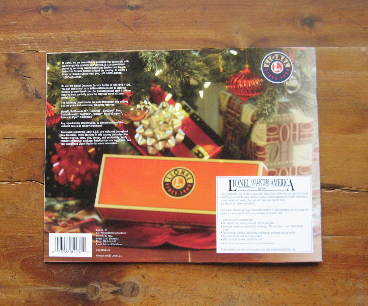2015 Lionel Trains Christmas Catalog. Mint Condition.