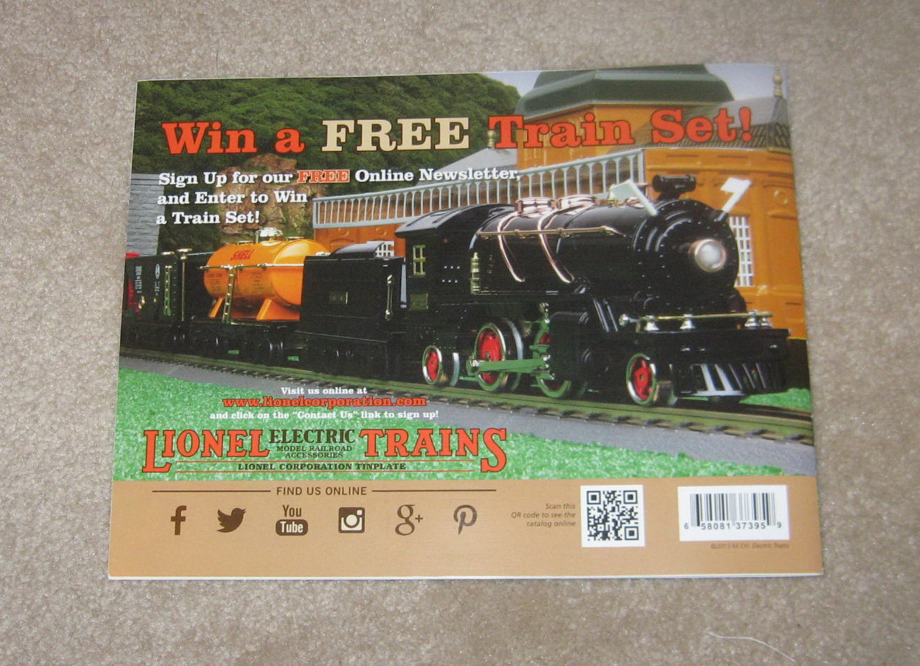 2015 Lionel (MTH) Trains Tinplate Catalog. Mint Condition.
