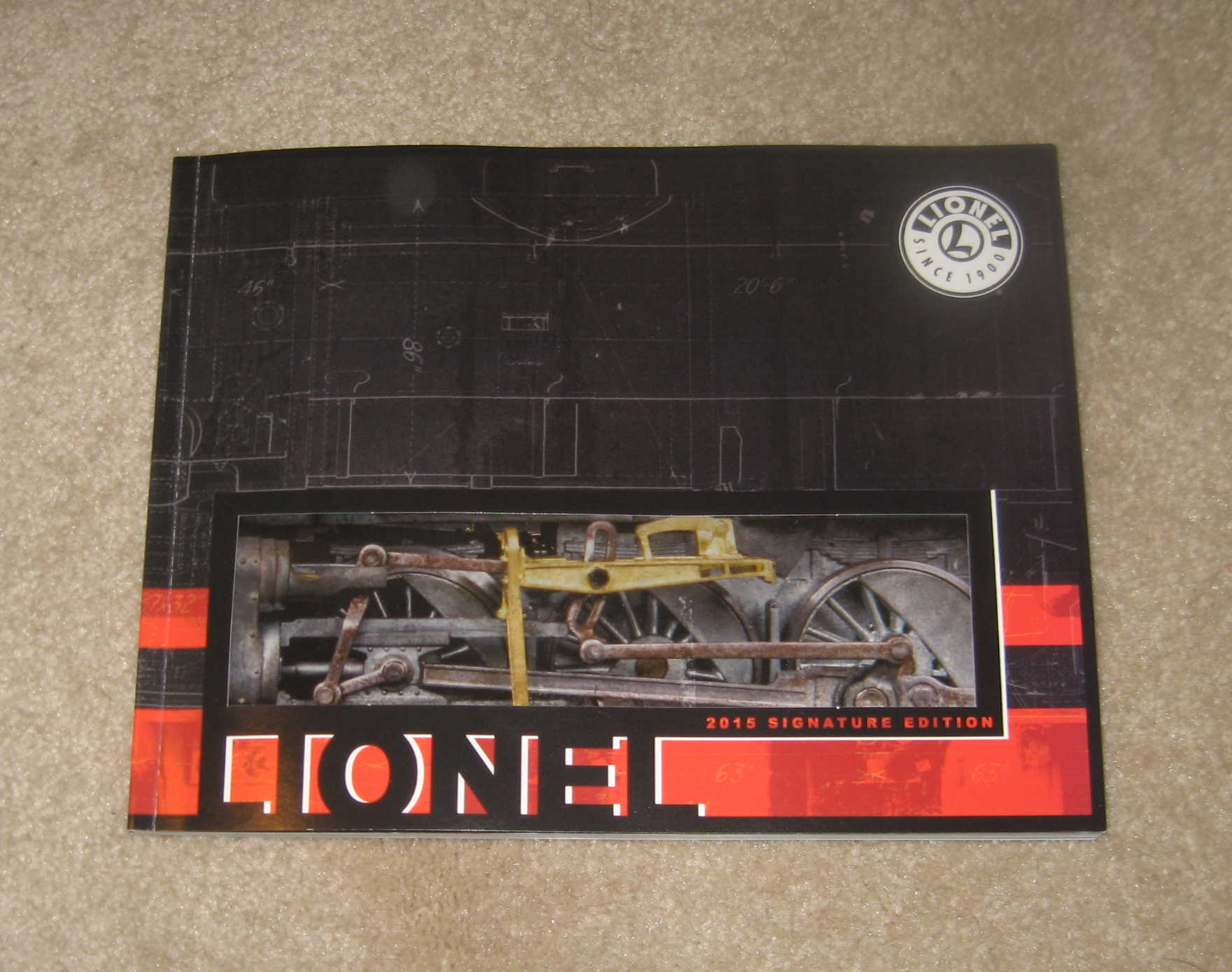 2015 Lionel Trains Signature Edition Catalog. Mint Condition.