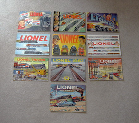 1950-1959 Lionel Consumer Catalogs. Good to Very Good Condition.
