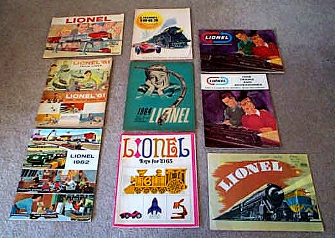 1960 - 1969 Lionel Consumer Catalogs. Mint Condition.