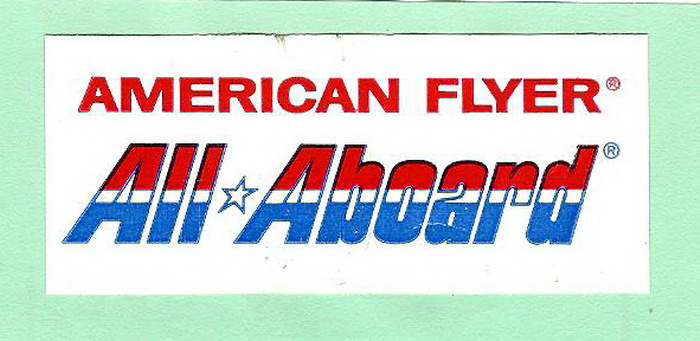 American Flyer All Aboard Sticker. Mint Condition.