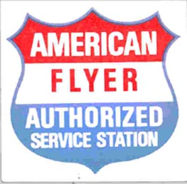 American Flyer Service Station Sticker. Mint Condition.