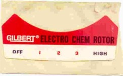 American Flyer Electro Chem Sticker. Mint Condition.