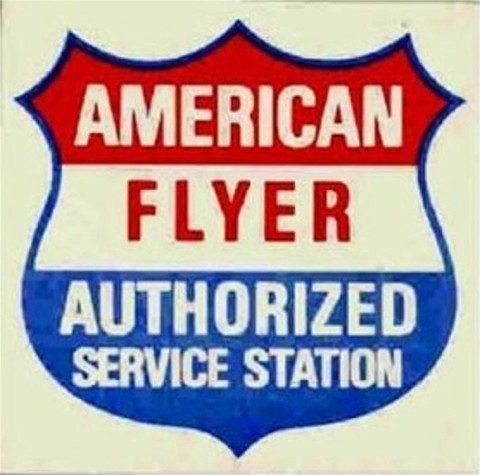 American Flyer Authorized Service Station Decal. Mint Condtion.