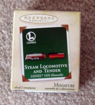 2005 Lionel Hiawatha Steam Loco And Tender Mini Set. (QXM2075)