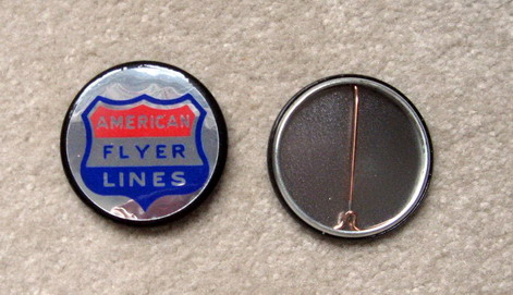 American Flyer Lines Button. Mint Condition. Repro.