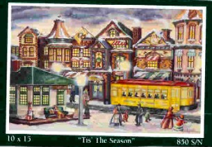 Angela Thomas Print # 21, 'Tis The Season. Mint Condition