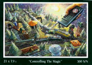 Angela Thomas Print # 6, Controlling The Magic. Mint Condition