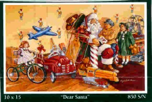 Angela Thomas Print # 7, Dear Santa. Mint Condition
