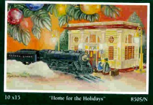 Angela Thomas Print # 9, Home For The Holidays. Mint Condition
