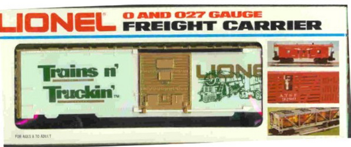 Lionel 7803 Trains N Truckin Box Car. Mint Condition.