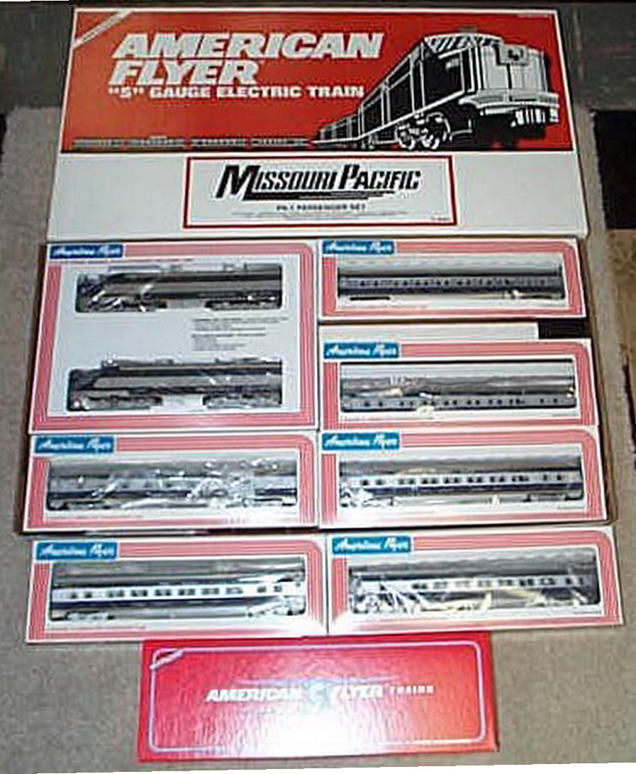 Lionel American Flyer 6-49601 Missouri Pacific PA-1 Set. Mint Condition.