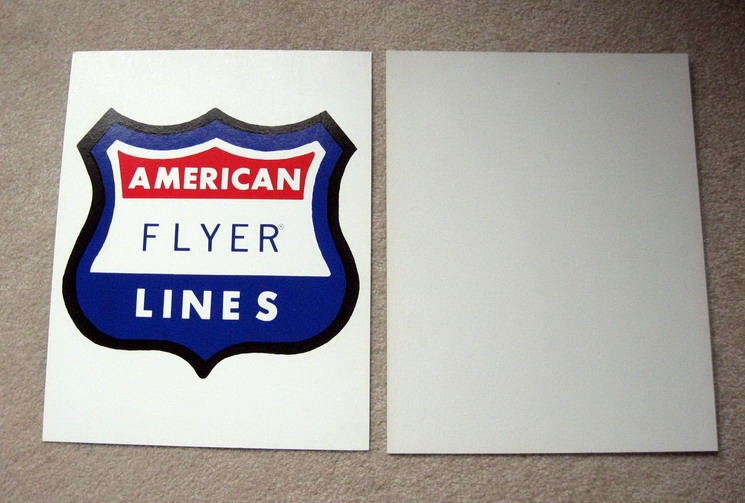 AMERICAN FLYER LINES Cardboard Backing Sign. Mint Condition.